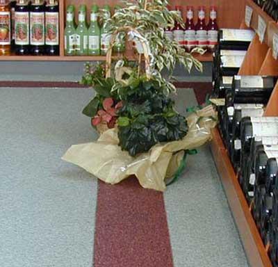 Siergrindvloeren in een wijnspeciaalzaak